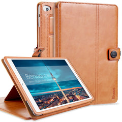 Benuo Multifunction Genuine Leather Case For iPad mini 4 Cover With Inside Wallet Card Solt Brief Business Style Flip MultiStand