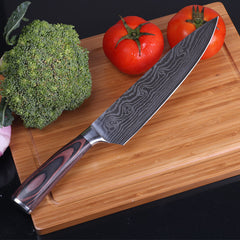 8''inch Damascus Stainless Laser Steel Chef Knife with Wood Handle
