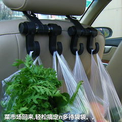 Back Seat Headrest Hooks - Bag Hook for Grocery Shopping Auto Vehicle Hanger Flexible Car Rack Clip Car Black Automotive Car