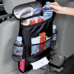Back Seat Multi Pocket Cooler Bag - 1 Pc Rear-facing Seat Organizer Bag Chair Car Styling Seat Cover Auto Care