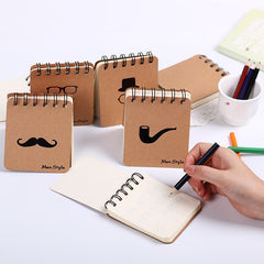 Cute Notebook Mustache Coil Notepad _ Plan Diary Day Planner Journal Record Stationery Office School Supplies