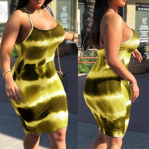Tye-Die Midi Dress S-3XL (Different Colors Available - Plug Fashions