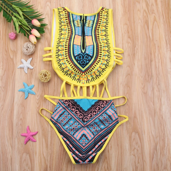 1 Piece Black, Blue, or Yellow Bikini S-2XL - Plug Fashions