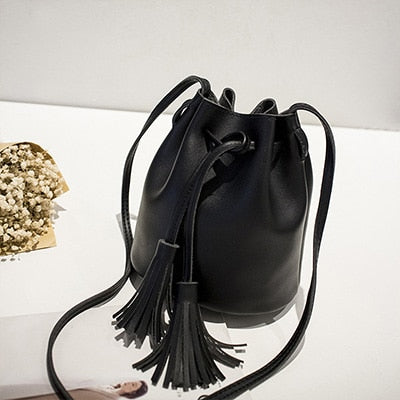 Bucket Tassel Bag (Different Colors Available) - Plug Fashions