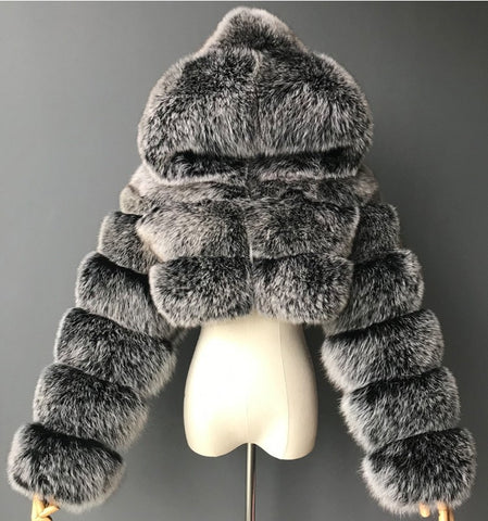 Faux Fur Short Coat S-3XL (Different Colors Available) - Plug Fashions