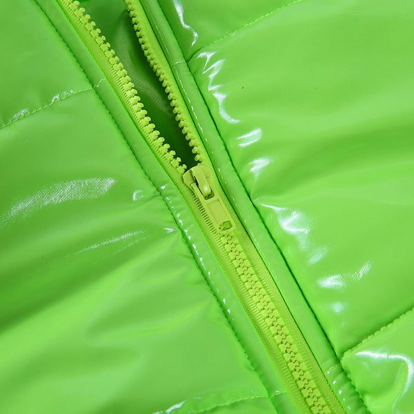 Black, Whiite or Green Bubble Coat - Plug Fashions