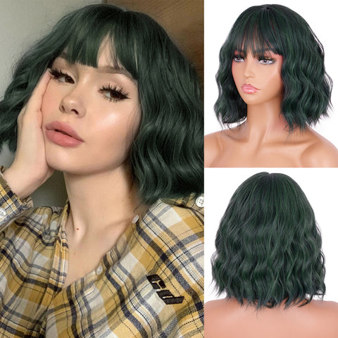 Erma Wavy Short Wig (Different Colors Available) - Plug Fashions