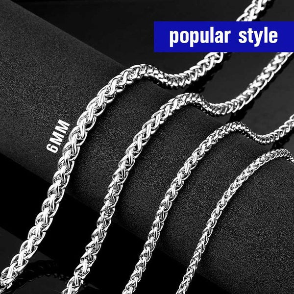 Men Plait Necklace (18 - 30 Inches) - Plug Fashions