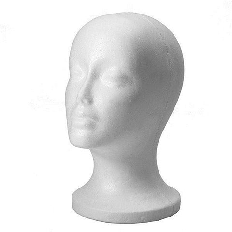 Foam Mannequin Head Wig or Hat Stand - Plug Fashions