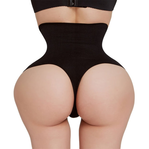 Black or Skin Thong Panties Shaper S-3XL - Plug Fashions