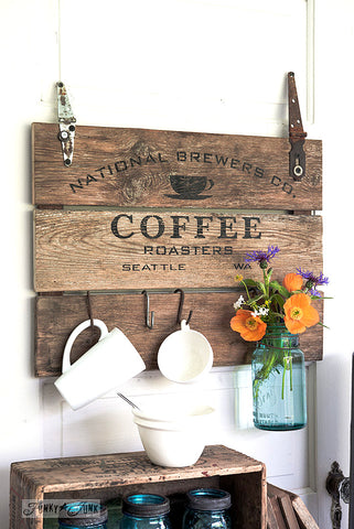 What to make with Funky Junk's Old Sign Stencils