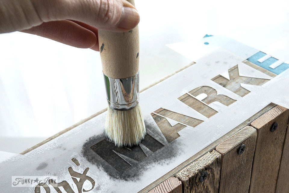 How to stencil | Funky Junk's Old Sign Stencils