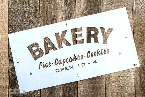 BAKERY Pies Cupcakes Cookies stencil by Funky Junk's Old Sign Stencils