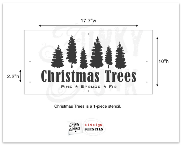 Christmas Trees stencil | Funky Junk's Old Sign Stencils