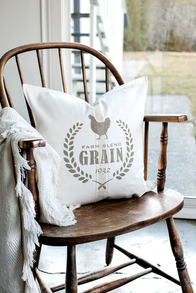 Create authentic looking reproduction grain sack designs with our Grain Sack Logo collection and Grain Sack Stripe stencils! Funky Junk's Old Sign Stencils