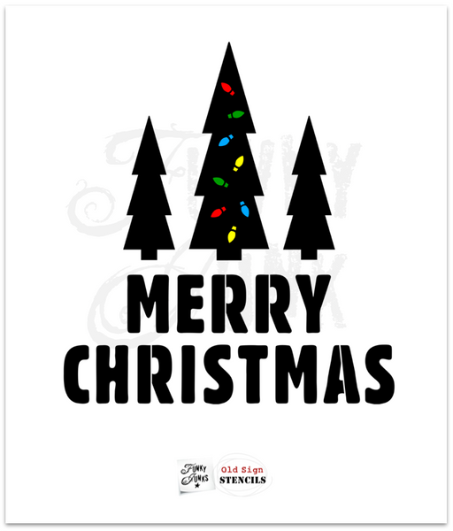 Merry Christmas by Funky Junk's Old Sign Stencils