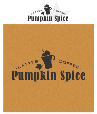 Pumpkin Spice - Lattes - Coffee - Teas by Funky Junk's Old Sign Stencils.  Toast the fall season with a Pumpkin Spice while making a sign to match with this stencil! This delicious iconic beverage stencil caters to Lattes, Coffee, and Tea. Comes with a tall mug of Pumpkin Spice and a cinnamon stick graphic.Pumpkin Spice Lattees, Coffee, Teas with a mug and cinnamon stick graphic stencil - by Funky Junks's Old Sign Stencils