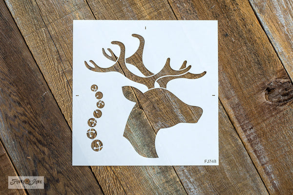 Reindeer Head and Bells | Funky Junk's Old Sign Stencil Christmas stencil