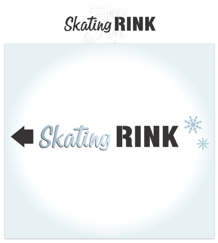 Skating Rink is a Christmas-Winter themed stencil that is mixed with a hand-written script alongside bold for punch! It's perfect for the ice skater in the family, or as a gift to one. Scaled to work with our other Winter Directional Signs so you can create a whimsical directional sign with ease!