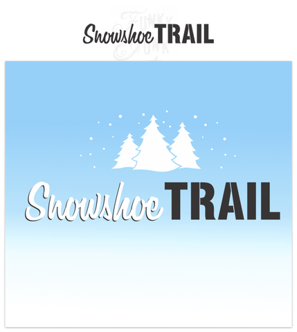 Snowshoe Trail is a Christmas-Winter themed stencil that is mixed with a hand-written script alongside bold for punch! It is scaled to work with our other Winter Directional Signs so you can create a whimsical directional sign with ease! Trim them up with Winter Graphics to achieve the full, snowy effect!