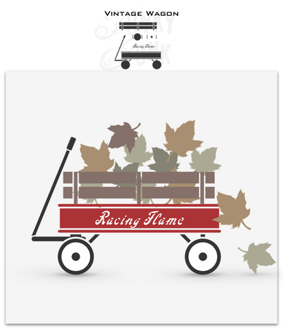 Vintage Wagon stencil by Funky Junk's Old Sign Stencils. This charming wagon stencil kit gives you the ability to build the wagon you desire, including a fencing support, whitewall tires, and a name for good measure! Fill the wagon up with seasonal items and change the name to seasonal sayings!