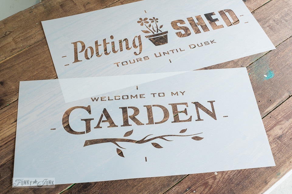 Paint Professional Looking Garden Themed; Welcome To My Garden By Funky  Junku0027s Old Sign Stencils. Paint Professional Looking Garden Themed ...