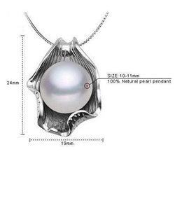 White Gold Plated Freshwater Pearl Jewelry Necklace