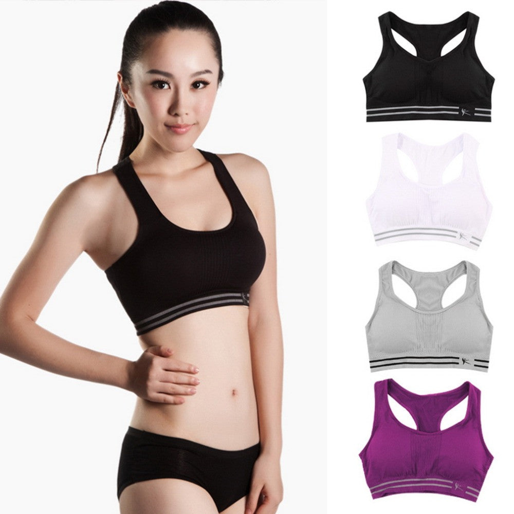 Absorb Sweat Quick Drying Professional Sports Bra,Fitness Padded Stretch Workout Top Vest Running Wireless Underwear for Women