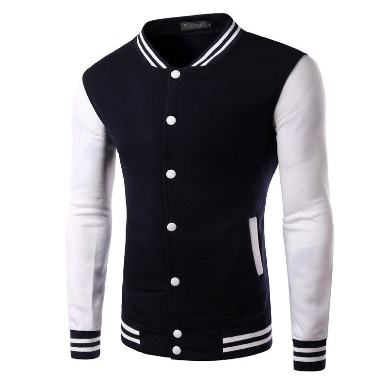 2015 New Leisure Fashion Personality Color Fleece Men's jacket Slim Fit Single-breasted Coat  6 Colors