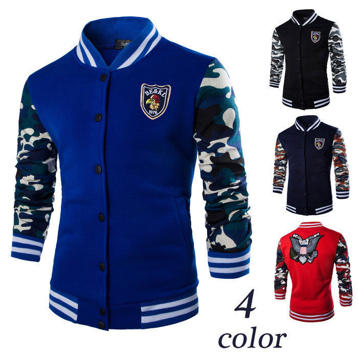 2015 New Fashion Uniform Men Hoodies/Brand Stand Collar Print Hoodies Sweatshirt For Men/Casual suit men Clothing