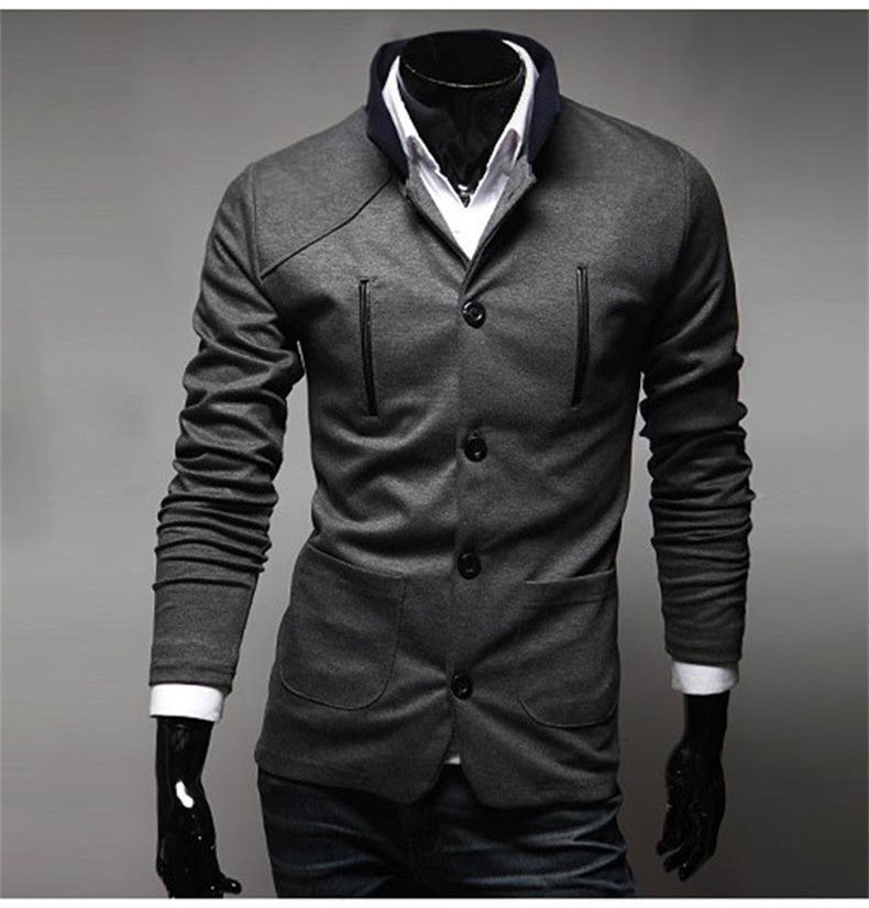 2015 New Arrival High Quality Fashion Men Suit Brand Blazer Men Casual Slim Clothing Suit Stand Collar Top Selling 3 Color