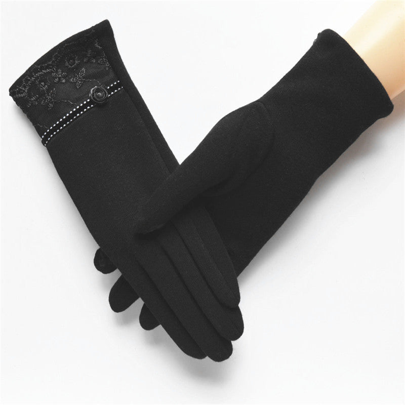 Elegant Touch Screen Cotton Gloves