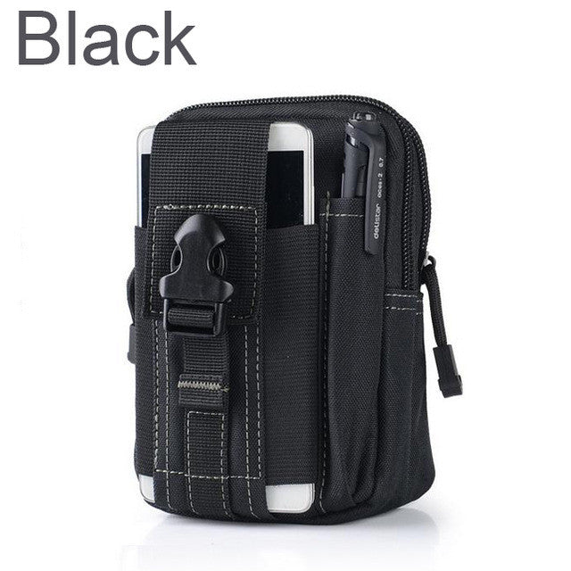 Tactical Molle bag Pouch Belt Waist Packs Bag Pocket Military Waist Fanny Pack Pocket for Iphone 6 6s 5s for Samsung Galaxy S6