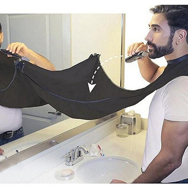 Man Bathroom Beard Care Trimmer Hair Shave Apron Gown Robe Sink Styles Tool Bathroom Apron Waterproof Floral Bib Cloth