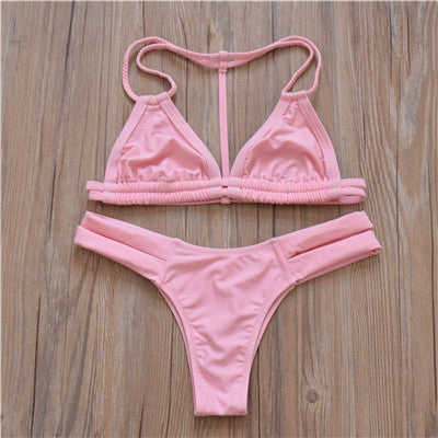 New Halter Top Sexy Bikini set Women Swimsuit Brazilian Bikini 2016 Push Up Swimwear Bathing Suit Biquini Bikinis Women
