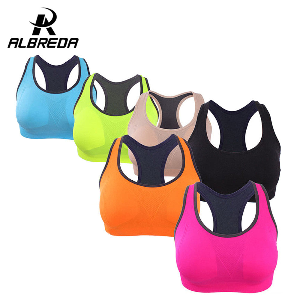 RODEX women sport bra Binand Running Yoga Sports Bra Up Shockproof Wirefree Crop Top Professional Gym Fitness Racerback Vest