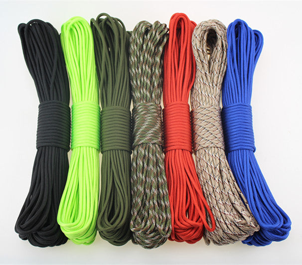New Paracord 550 Paracord Parachute Cord Lanyard Rope Mil Spec Type III 7 Strand 100FT 50FT Climbing Camping survival equipment