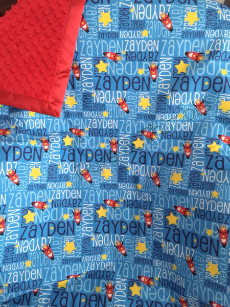 Personalised Classic Cotton Cot Sized Blankets