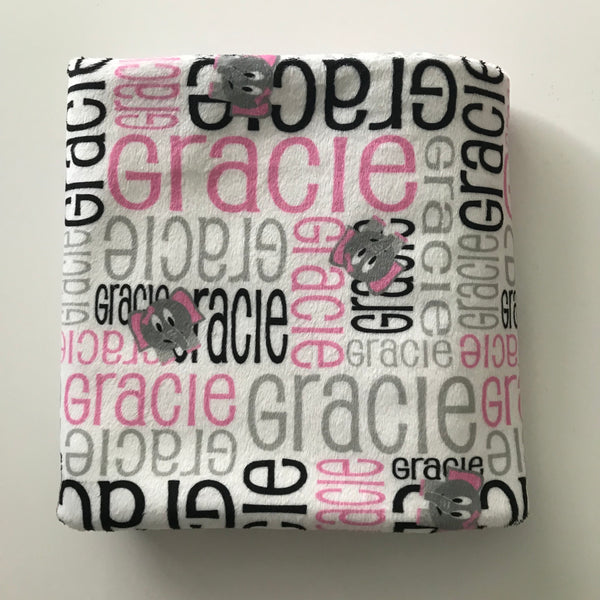 PRE MADE, READY TO SHIP, PERSONALISED BLANKETS