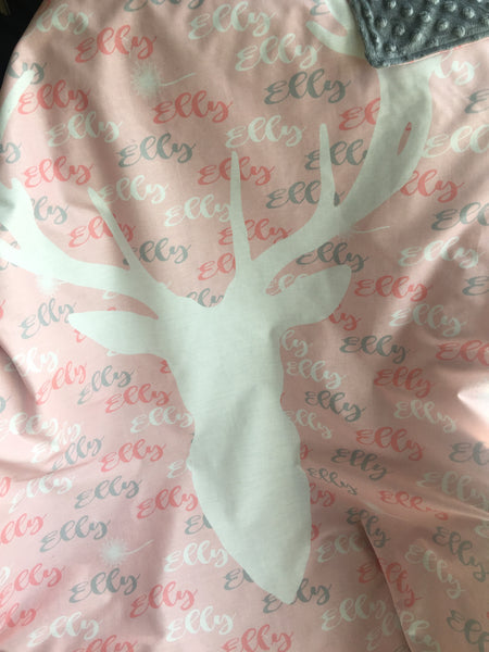 Personalised Summer Cotton Cot Sized Blankets