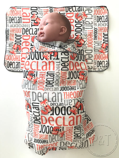 Muslin Wrap & Burp Cloth Sets - Nested Image