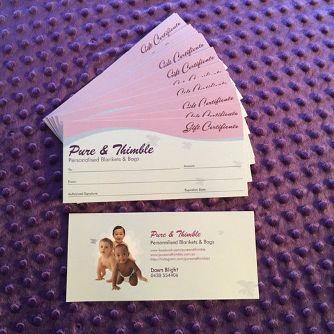 Pure & Thimble Gift Certificates