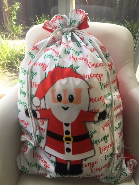 Santa Sack - Horizontal Central Image