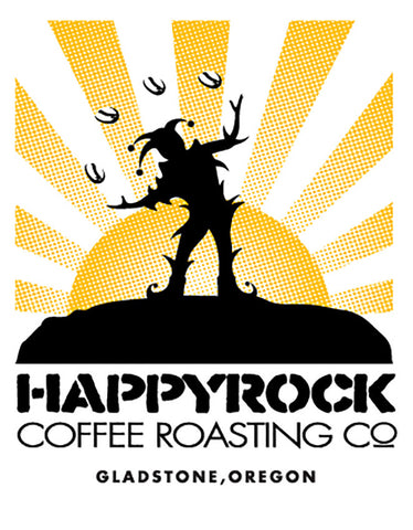 Happyrock Coffee Sunburst Sticker (set of 2)