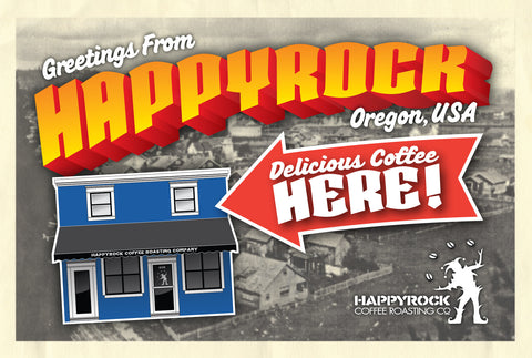 Happyrock Coffee Post Card