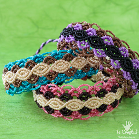 Colourful macrame bracelet