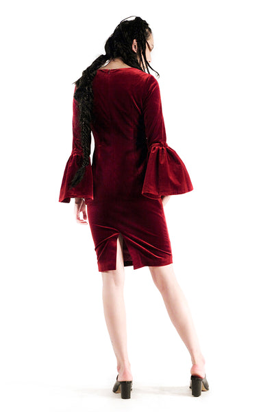 The Bella Dress (Maroon) - Sarah Lai