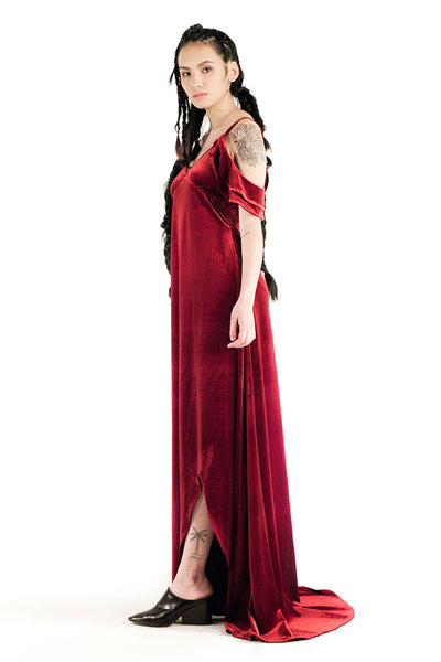 The Albany Gown (Maroon) - Sarah Lai