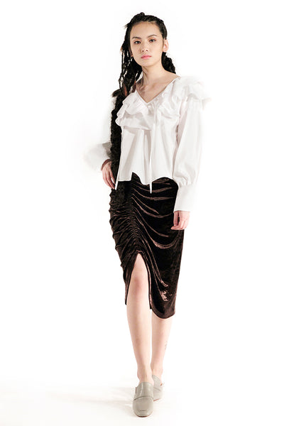The Diana Skirt (Chocolate) - Sarah Lai
