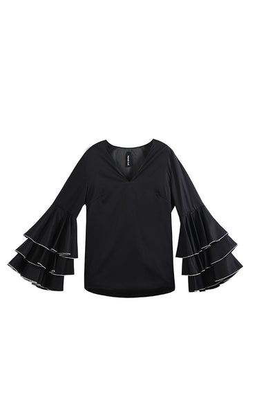 The Dixie Blouse (Black) - Sarah Lai